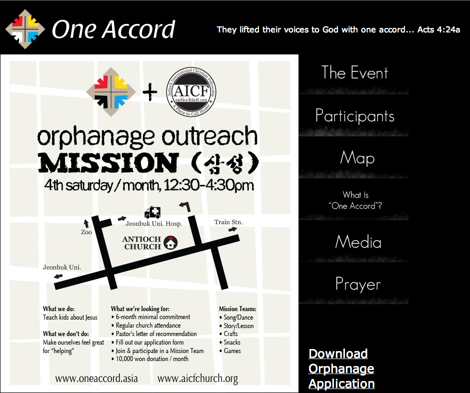 One Accord Orphanage website