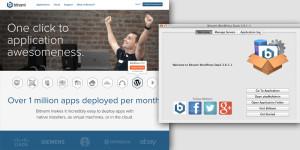 Bitnami homepage and server window