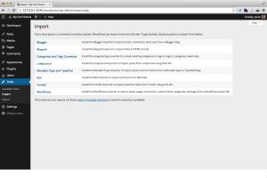 WordPress Import data