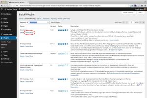 WordPress Install Developer plugin
