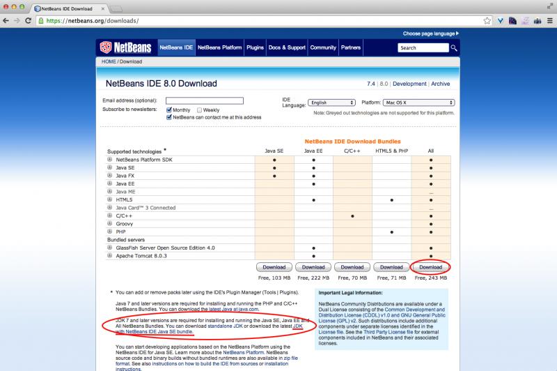 NetBeans download