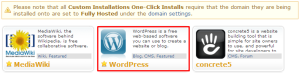 One-click Install for WordPress on Dreamhost